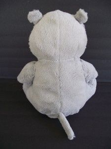Kids Plush 11 Curious George Gray Happy Hippo Soft Stuffed Toy