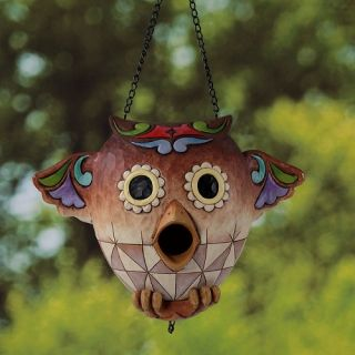 Jim Shore Heartwood Creek Owl Garden Birdhouse 4026860 New Bird House