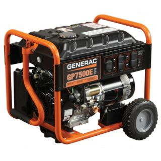 Generac Power Systems GP7500E GP Series Electric Start Portable