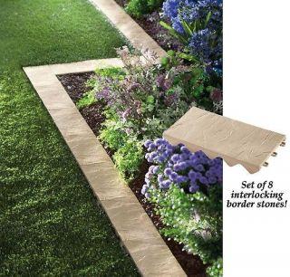 PC Snapping Stone Garden Yard Border Edging Set Stone Like Slabs New