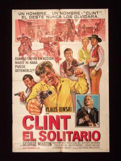 Clint El Solitario George Martin Argentine Poster