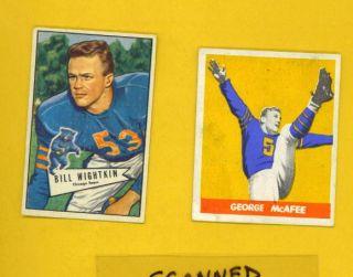 1948 Leaf, VARIATION, Bears & Duke, Hall Famer, GEORGE McAFEE