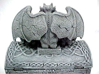 See No Evil Gargoyle Treasure Trinket Box Hear Speak