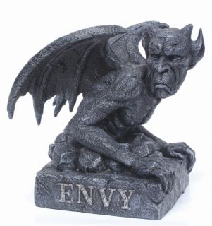 Envy Gargoyle Statue Home Collection Figurine Decoration Skull Fairy