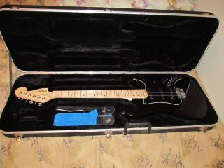 George Washburn Limited Black Electric Guitar w/ Ibanez Plush Lined