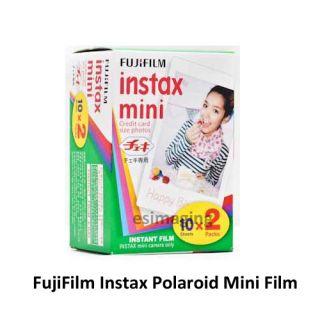 Fujifilm Instant Instax Mini Polaroid 25 White Camera with Twin Pack