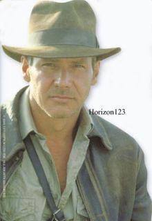 Official Indiana Jones Fedora Real Fur Felt Fedora Hat Brown Large