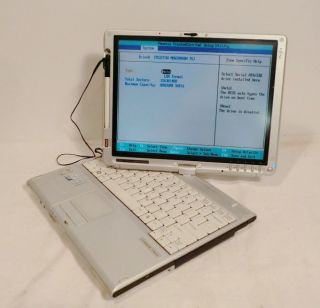 FUJITSU LifeBook T4220 Core 2 Duo DUAL 1 8GHZ Tablet LAPTOP 80GB 2G Cd