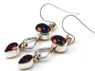 Garnet 925 Sterling Silver Earrings 1 3 4