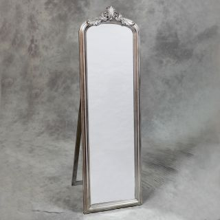 French Free Standing Full Length Dressing Cheval Mirror Silver