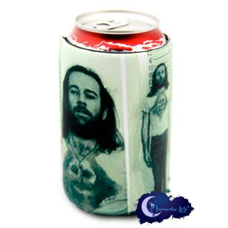 George Carlin Comedian Mug Shot Can Bottle Koozie
