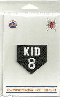 GARY CARTER NEW YORK METS KID 8 TRIBUTE PATCH COMMEMORATIVE RARE