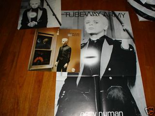 Tubeway Army Replicas UK LP Poster Gary Numan LP