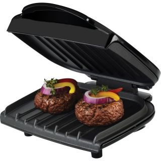 George Foreman 36 Electric Indoor Grill Fixed Plate Portable