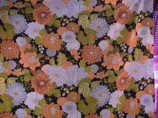 5th Ave Designs Fabric Bold Drapes Orange Black Linen