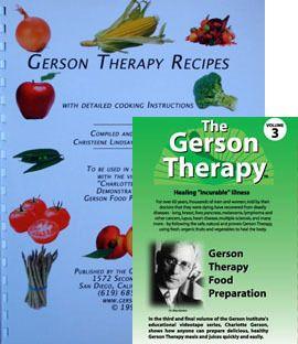Dr Max Gerson Therapy Vol 3 DVD Paperback Recipe Book