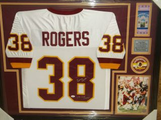 George Rogers Signed Framed Washington Redskins Jersey