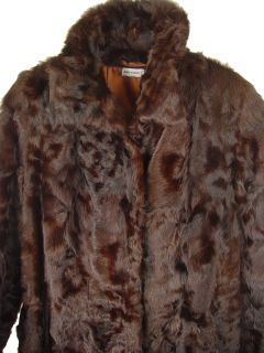04 Women Karakul Fur Full Length Classic Coat Clothing Clothes
