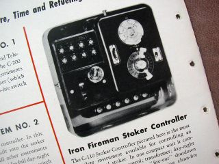 IRON FIREMAN Heating Gas Oil Coal Burner Boiler Catalog ~ Cleveland OH