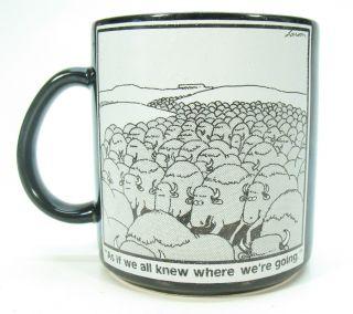 Vintage 1985 Gary Larson FAR SIDE COMIC Ceramic Coffee Mug FARSIDE No