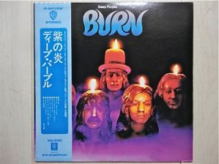 DEEP PURPLE / BURN JAPAN LP / OBI, P 8419W, RITCHIE BLACKMORE, RAINBOW