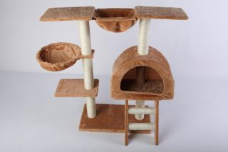 35H Brown Cat Tree Condo House Scratcher Pet Furniture Bed 16