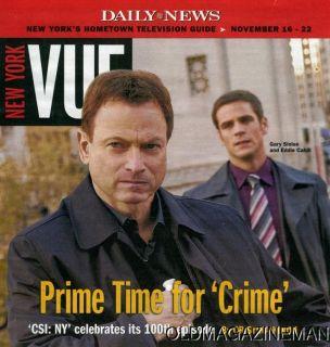 Gary Sinise Eddie Cahill CSI NY New York Vue November