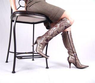 Giancarlo Paoli Luxurious Italian Hand Crafted Catwalk Womens Boots EU