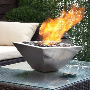 Empire Ventless Indoor Outdoor Table Fireplace Fire Pit Centerpiece