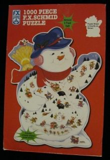 WINTER CARNIVAL SHAPED 1000 PIECE JIGSAW PUZZLE BY FX SCHMID A 8