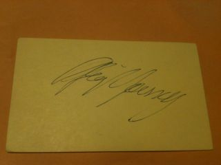 Gig Young (d. 1978) actor Signed cut Autograph. Original autograph on