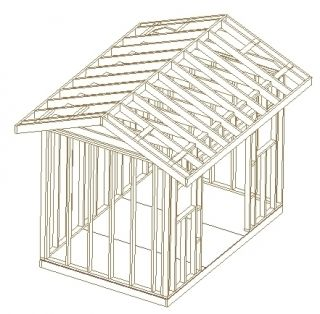 8X12 TRADITIONAL GABLE ROOF WOOD SHED PLANS, 26 PLANS, LEARN HOW TO