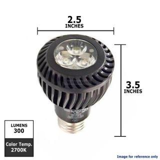 GE 7W 120V E26 PAR20 FL20 2700k Black LED Energy Smart Light Bulb