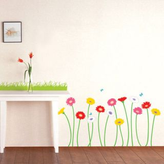 gerbera flower wall removable decal sticker