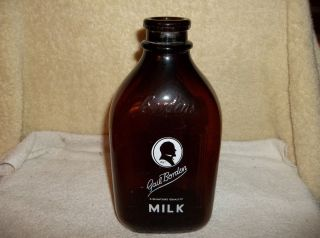 Vintage Bordens Two Quart Milk Bottle By Gail Borden Grt Cond