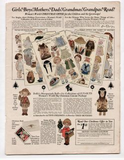 Vintage Dolly Dingle Paper Dolls Advertisement from December 1928