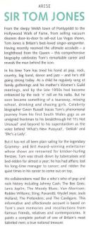 Sir Tom Jones Biography Book Lauper Geldof Jazz 1844543226