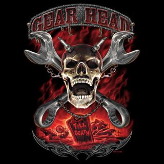 Gear Head Till Death Lethal Threat Graphics T Shirt Your Size Color