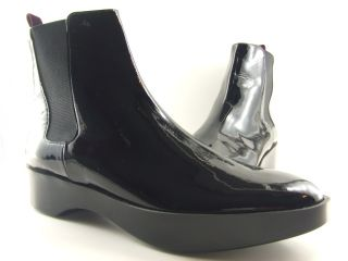 Robert Clergerie NEW Womens Black Patent Leather Ankle Boots
