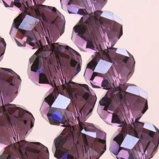 100pcs Purple Swarovski Crystal Gemstone Loose Beads 4x6mm b006