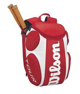 Wilson Tour Back Pack Tennis Racquet Racket Bag Auth Dealer Black Red