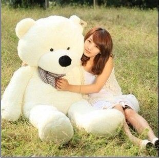 White color 1 2M 47 Giant Huge Cuddly Stuffed Animals Plush Teddy Bear