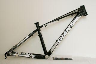 2012 Giant XTC Fr MTB Frame Alloy Material Black White Silver 16