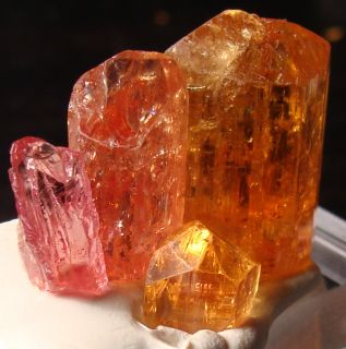 PINK Orange YELLOW Golden Imperial Topaz Terminated Gemstones Crystals
