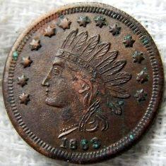 1863 F Gies Grocer Detroit MI F MI 225AG 3A Rarity R 8 Civil War Store