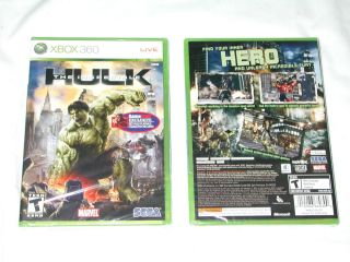 Hulk XBox 360 GAMESTOP EXCLUSIVE RED HULK INCLUDED Sega Game