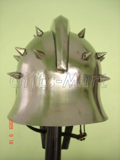 Roman GLADIATOR MAXIMUS HELMET,+Free Leather Liner,Armor,Greek ,Movie