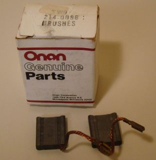 NEW Boxof 2 Genuine Onan 214 0096 Generator Brushes NOS