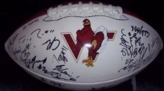 2011 Virginia Tech Hokies team signed football  PROOF 30 SIGS