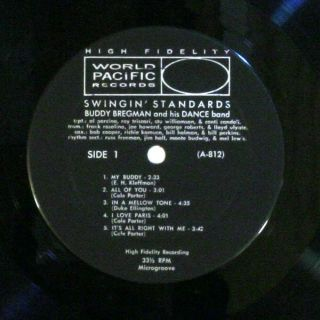 Buddy Bregman and His Dance Band Swingin Standards LP USA World